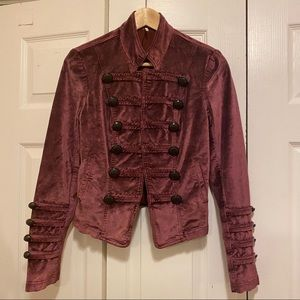 NWT Free people maybe velvet military style dress